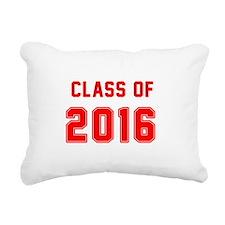 Red Class of 2016 Rectangular Canvas Pillow