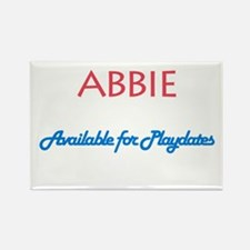 Abbie - Available For Playdat Rectangle Magnet (10