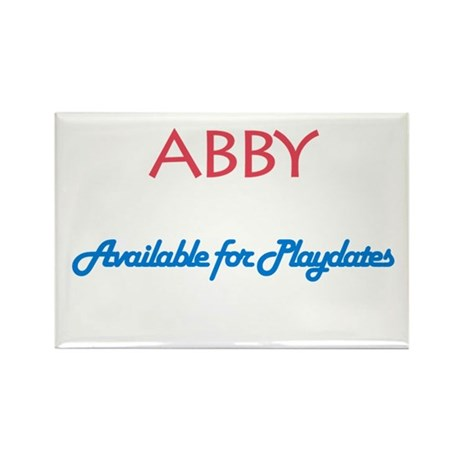 Abby - Available For Playdate Rectangle Magnet (10