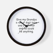 Unique Grandpa fix Wall Clock