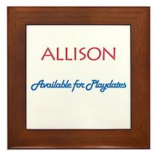 Allison - Available For Playd Framed Tile