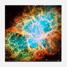 Crab Nebula Tile Coaster