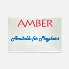 Amber - Available For Playdat Rectangle Magnet (10