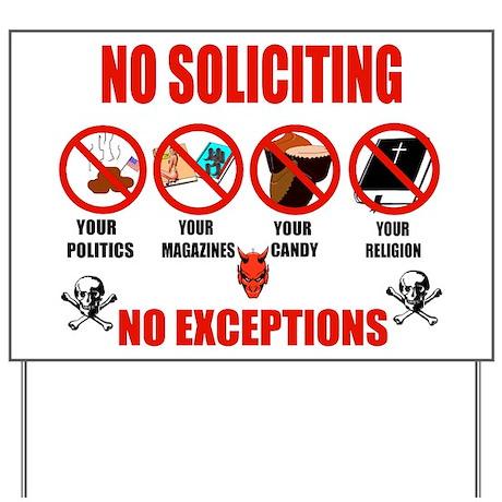 No Solicitors Yard Sign