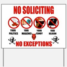 No Solicitors Yard Sign