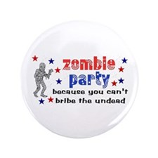 "Vote Zombie Party 3.5"" Button"