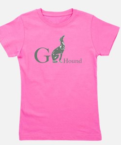 Cute Greyhound rescue Girl's Tee
