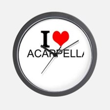 I Love Acappella Wall Clock