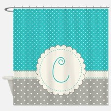 Cute Monogram Letter C Shower Curtain