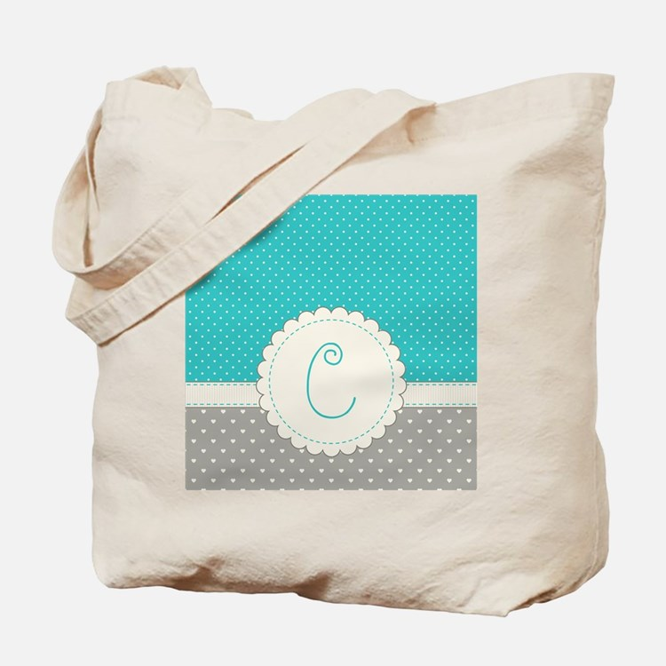 Cute Monogram Letter C Tote Bag