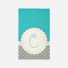 Cute Monogram Letter C Area Rug