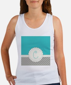 Cute Monogram Letter C Tank Top