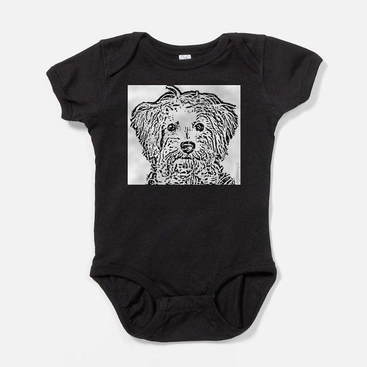 Cute Designer dog Baby Bodysuit