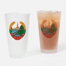 Laos Coat Of Arms Drinking Glass