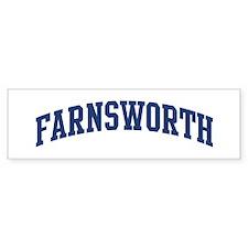 FARNSWORTH design (blue) Bumper Bumper Sticker