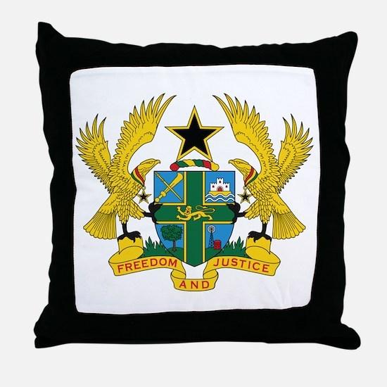Ghana Coat Of Arms Throw Pillow