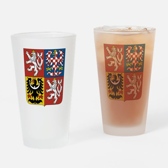 Czech Republic Coat Of Arms Drinking Glass