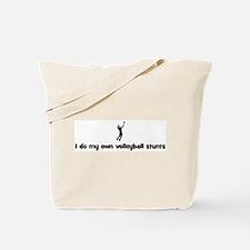 Mens Volleyball stunts Tote Bag
