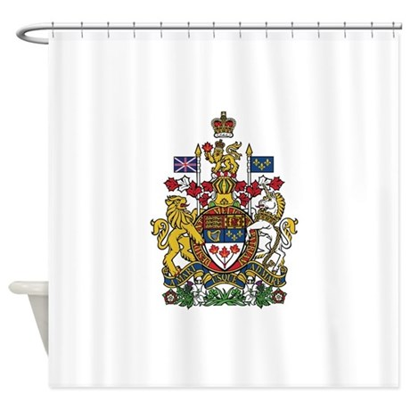 Canada Coat Of Arms Shower Curtain By NationalFlagsOfTheWorld