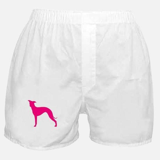 Greyhound Two Pink 1 Boxer Shorts