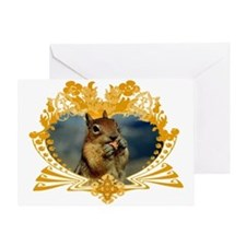 Squirrely Squirrel Crest Greeting Card