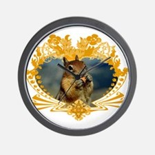 Squirrely Squirrel Crest Wall Clock