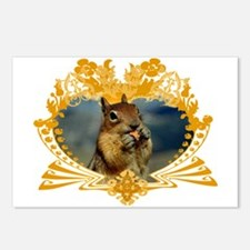 Squirrely Squirrel Crest Postcards (Package of 8)
