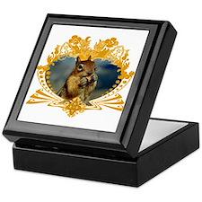 Squirrely Squirrel Crest Keepsake Box