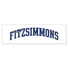 FITZSIMMONS design (blue) Bumper Bumper Sticker
