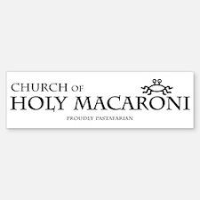 Church Of Holy Macaroni Bumper Bumper Bumper Sticker
