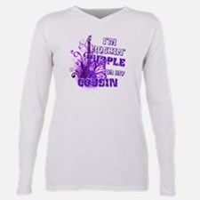 Cool Support domestic violence awareness Plus Size Long Sleeve Tee