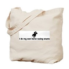 Horse Racing stunts Tote Bag