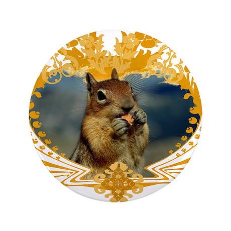 """Squirrel Artwork Crest 3.5"""" Button"""
