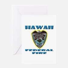 Hawaii Federal Fire Department Greeting Card