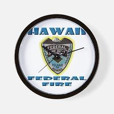 Hawaii Federal Fire Department Wall Clock