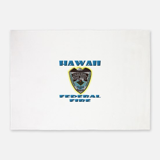 Hawaii Federal Fire Department 5'x7'Area Rug