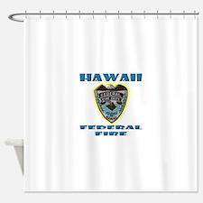 Hawaii Federal Fire Department Shower Curtain