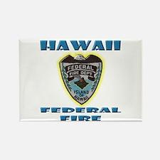 Hawaii Federal Fire Department Rectangle Magnet