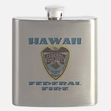 Hawaii Federal Fire Department Flask