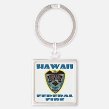 Hawaii Federal Fire Department Square Keychain