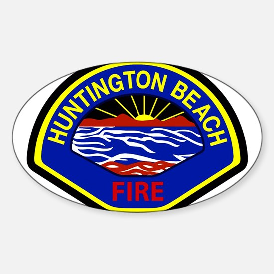 Huntington Beach Fire Sticker (Oval)