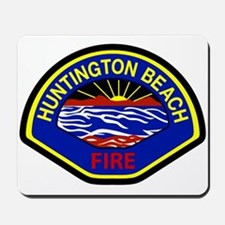 Huntington Beach Fire Mousepad