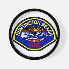 Huntington Beach Fire Wall Clock