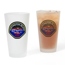 Huntington Beach Fire Drinking Glass
