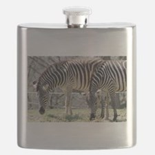 Zebras At Lunch Flask