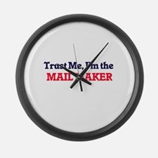 Trust me, I'm the Mail Maker Large Wall Clock