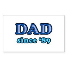 Dad Since 1989 Father's Day Rectangle Decal