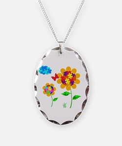 Autism Awareness Sunflower Necklace
