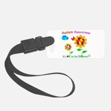 Autism Awareness Sunflower Luggage Tag