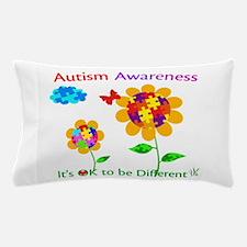 Autism Awareness Sunflower Pillow Case